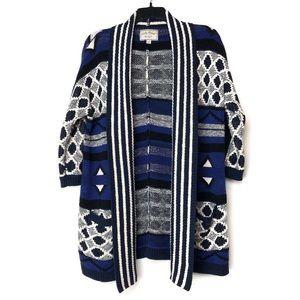 Lucky Brand Aztec Long Knit Cardigan L/XL